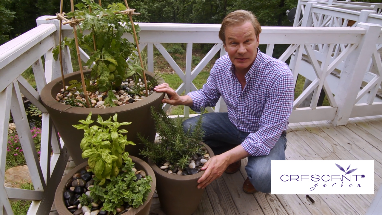 Growing Edibles in Crescent Garden Containers